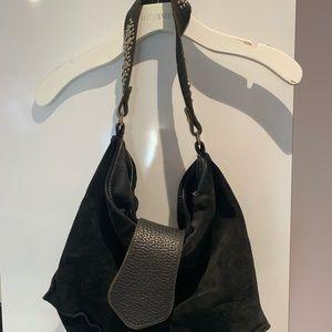 Tylie Malibu black shoulder bag with crystals